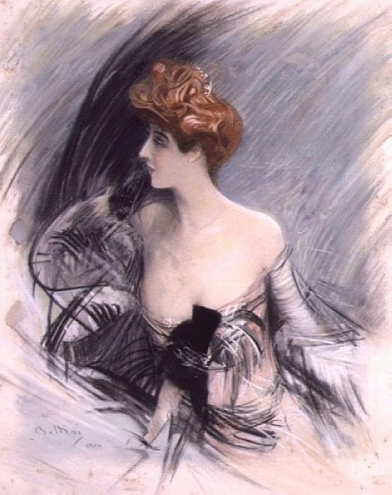 Portrait of Sarah Bernhardt. Giovanni Boldini