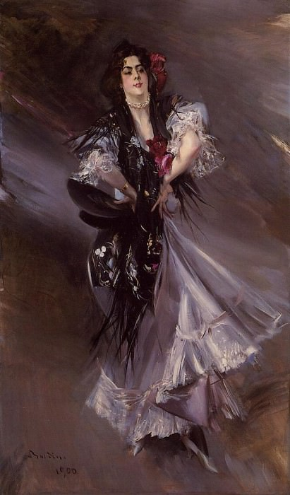 Portrait of Anita de la Ferie The Spanish Dancer 1900. Giovanni Boldini
