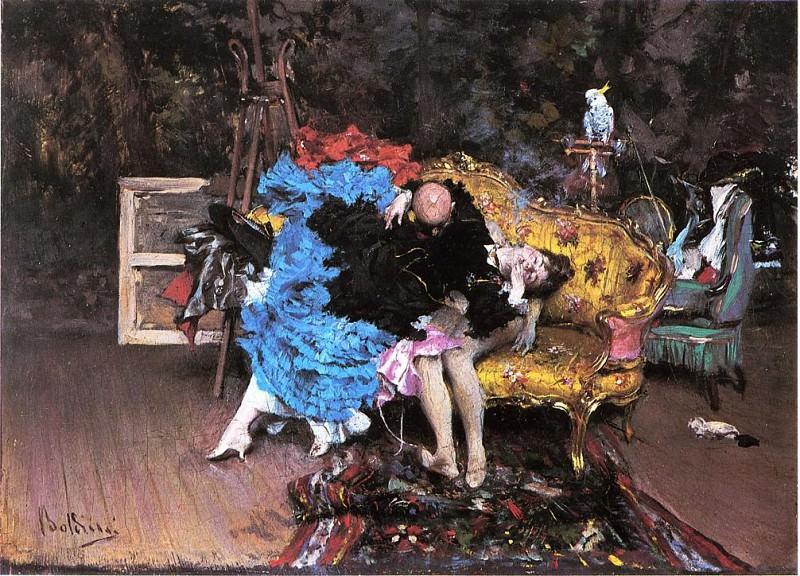 Модель и манекен или Берта в мастерской художника. Джованни Больдини