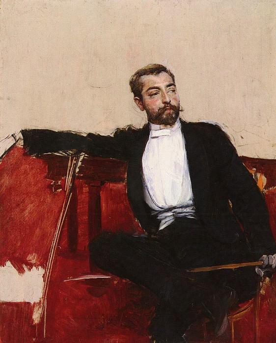 L-UOMO DALLO SPARTO--A PORTRAIT OF JOHN SINGER SARGENT. Giovanni Boldini