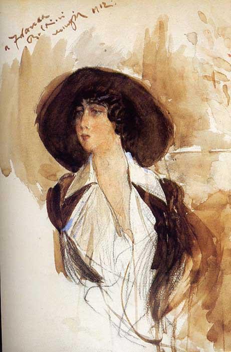 Donna Franca Florio Portrait 1912. Giovanni Boldini