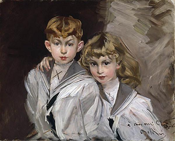 Two Children. Giovanni Boldini