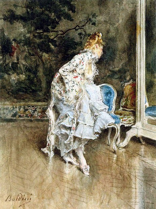 The Beauty Before The Mirror. Giovanni Boldini