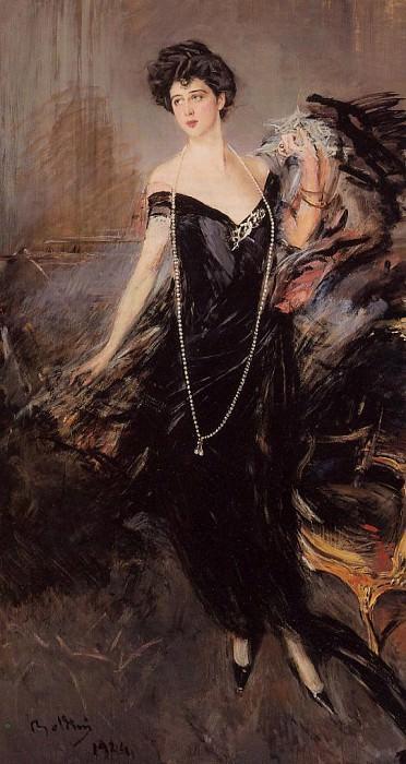 Portrait of Donna Franca Florio. Giovanni Boldini