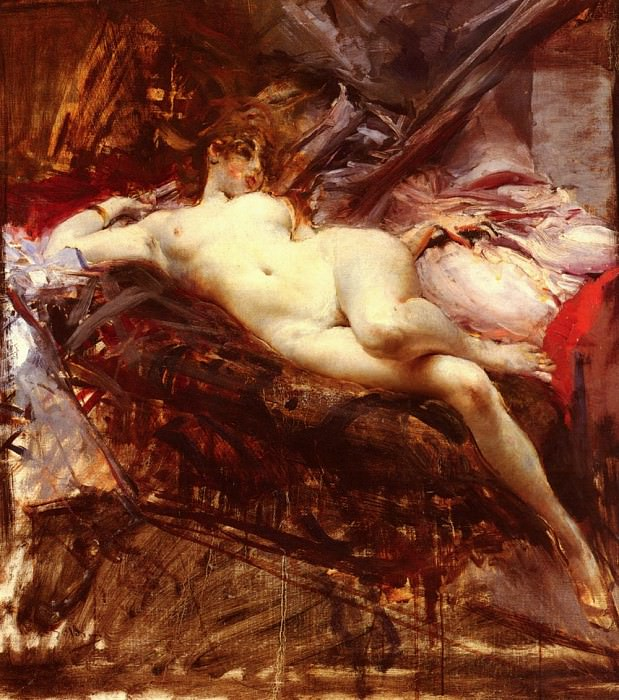 Reclining Nude. Giovanni Boldini