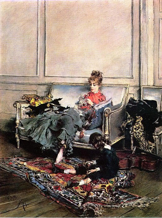Peaceful Days also known as The Music Lesson. Giovanni Boldini