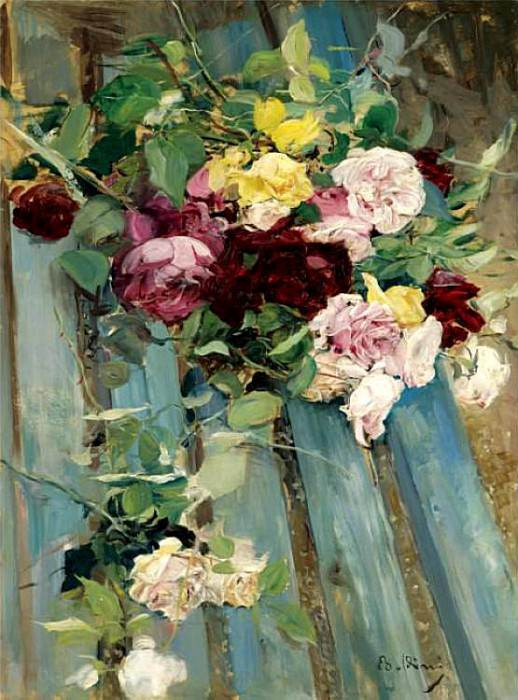 Natura Morta con Rose. Giovanni Boldini