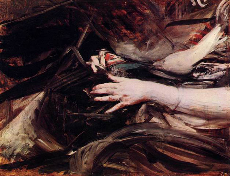 Sewing Hands of a Woman. Giovanni Boldini