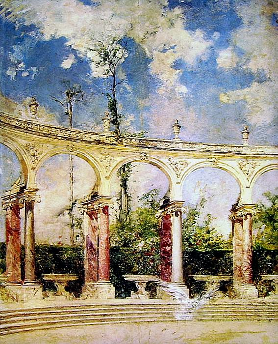 The Collonade in Versailles. Giovanni Boldini
