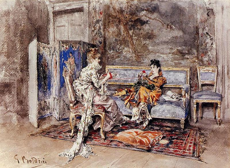 The Conversation. Giovanni Boldini