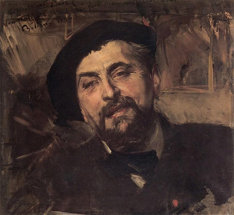 Portrait of the Artist Ernest Ange Duez. Giovanni Boldini