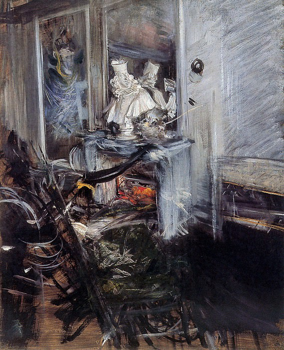 Berninis cardinal in studio. Giovanni Boldini