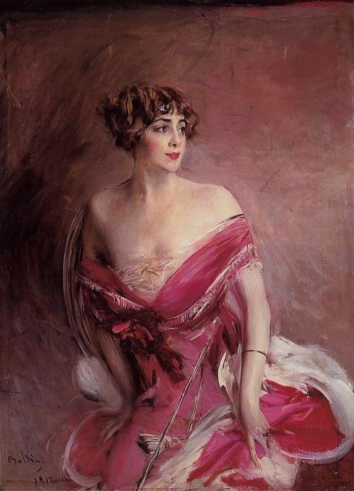 Portrait of Mlle de Gillespie, La Dame de Biarritz. Giovanni Boldini