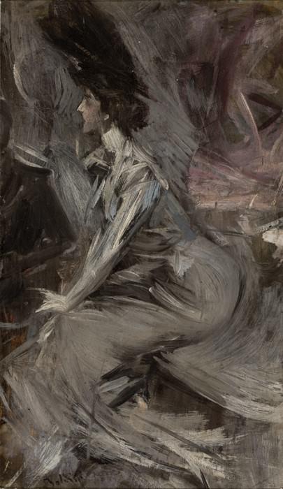 Сидящая дама - Разговор, 1904, 05. Джованни Больдини