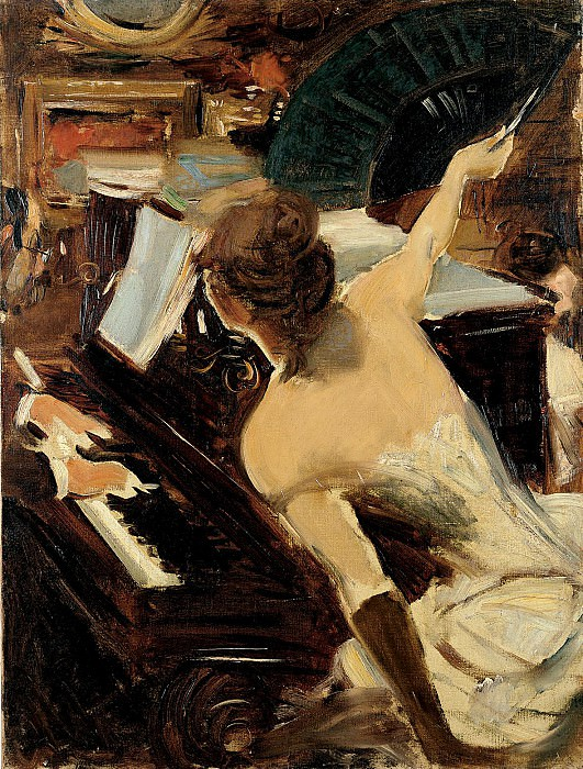 The Mondona Singer. Giovanni Boldini