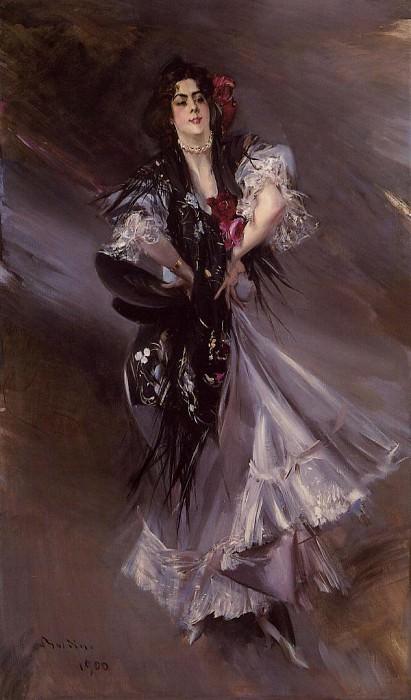 Boldini Giovanni Portrait of Anita de la Ferie -The Spanish Dancer-. Giovanni Boldini
