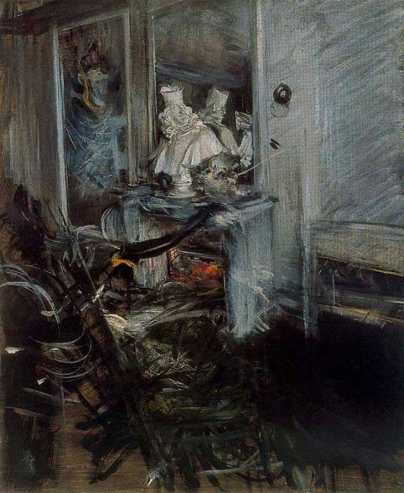 Berninis Cardinal in the Painters Studio. Giovanni Boldini