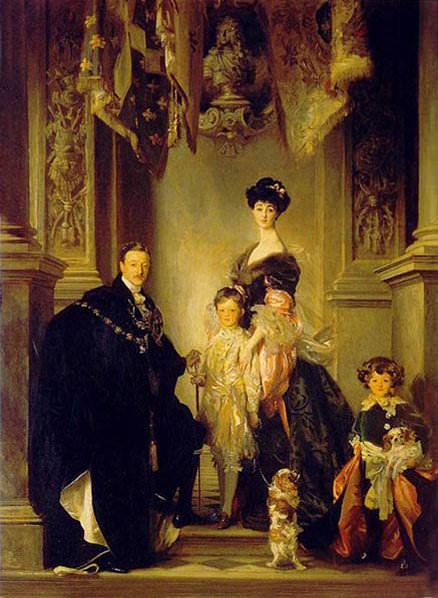 Duque Marlborough Singer Sargent y Familia. Giovanni Boldini