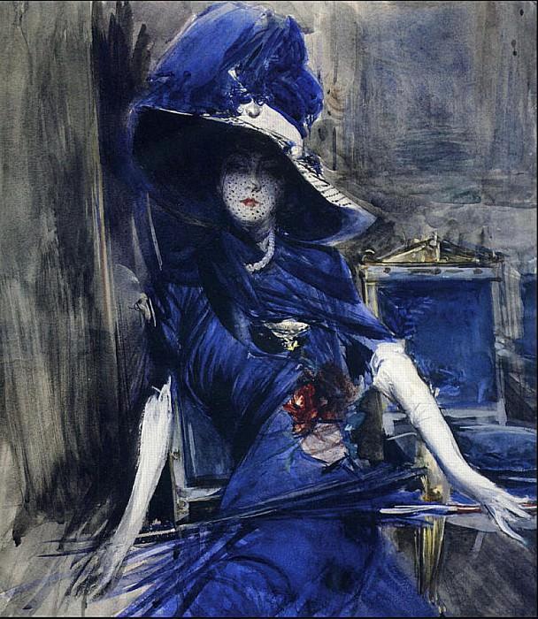 Божественная в синем. Джованни Больдини