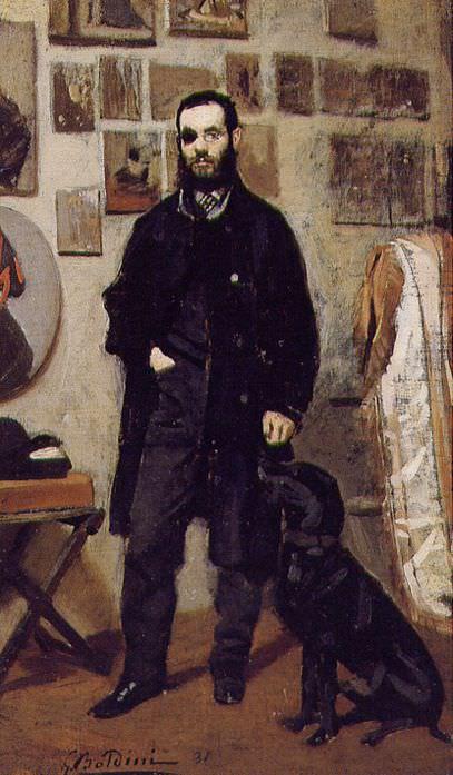 Портрет Джузеппе Аббати, 1865. Джованни Больдини