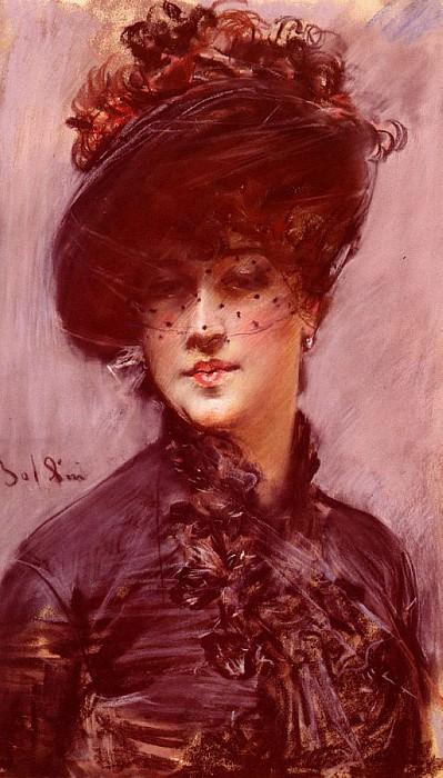 Lady with a Black Hat (La Femme au Chapeau Noir). Giovanni Boldini
