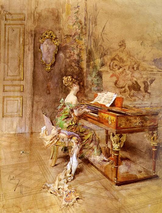 La Pianista. Giovanni Boldini