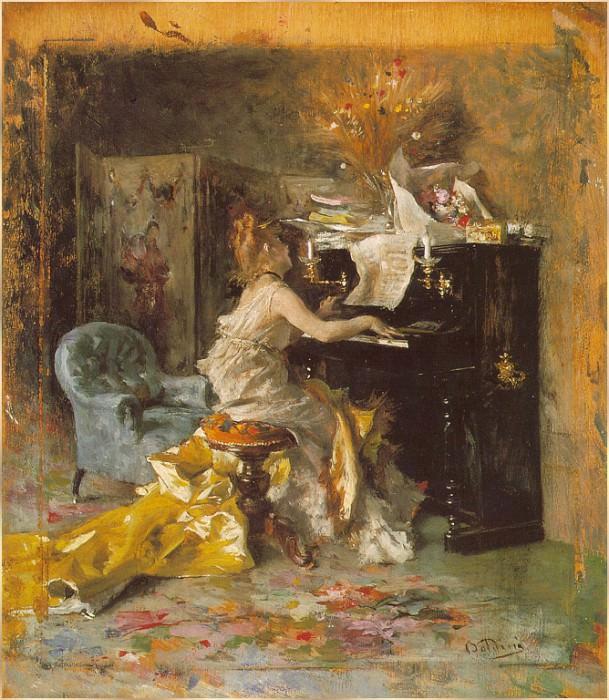 The Recital. Giovanni Boldini