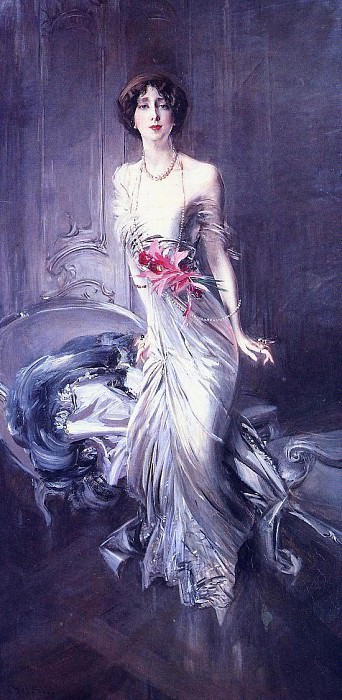 Portrait of Madame E L Doyen 1910. Giovanni Boldini