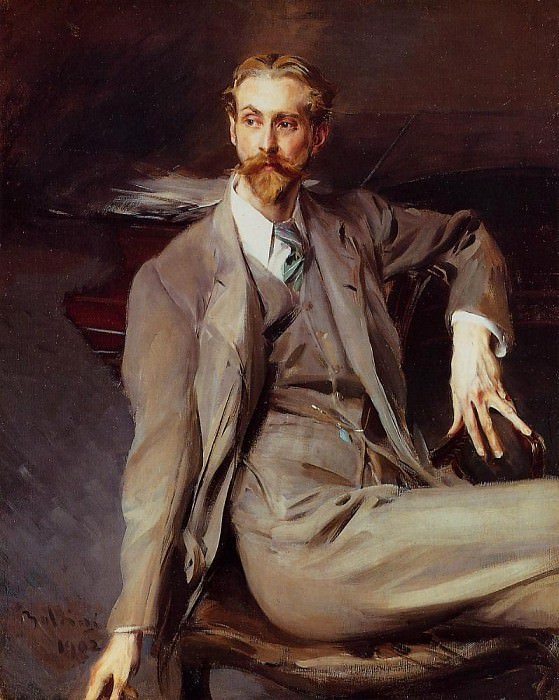 Portrait of the Artist Lawrence Alexander Peter Brown. Giovanni Boldini