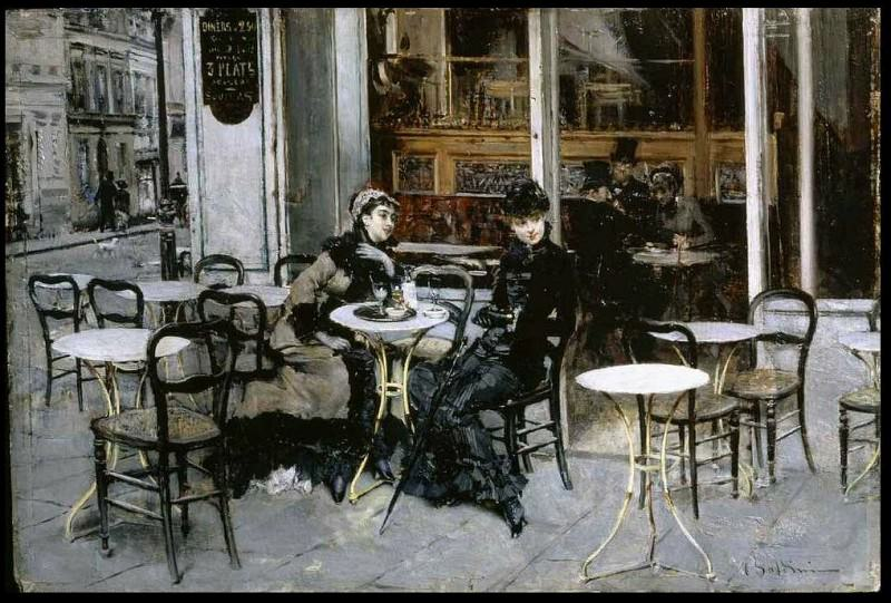 Conversazione al Caffe. Giovanni Boldini