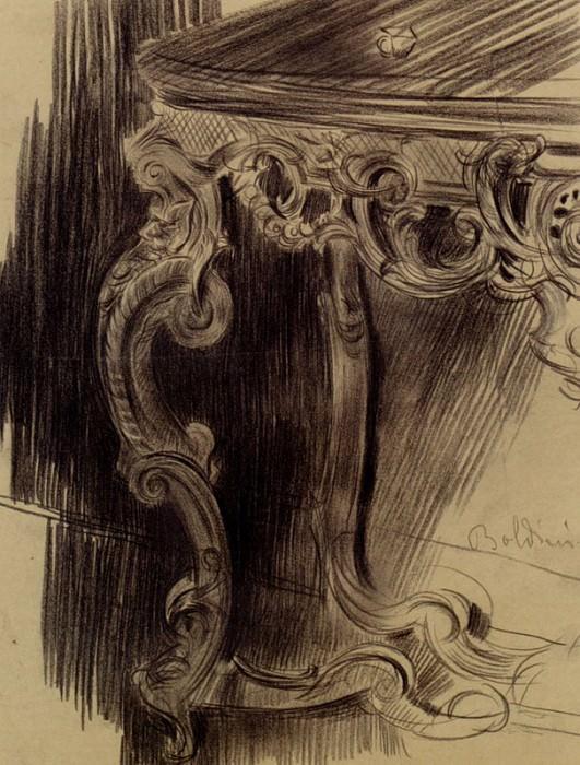 Набросок угла стола. Джованни Больдини