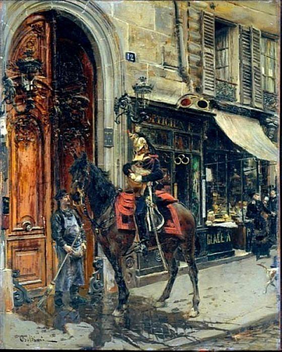 The Dispatch Bearer 1879. Giovanni Boldini