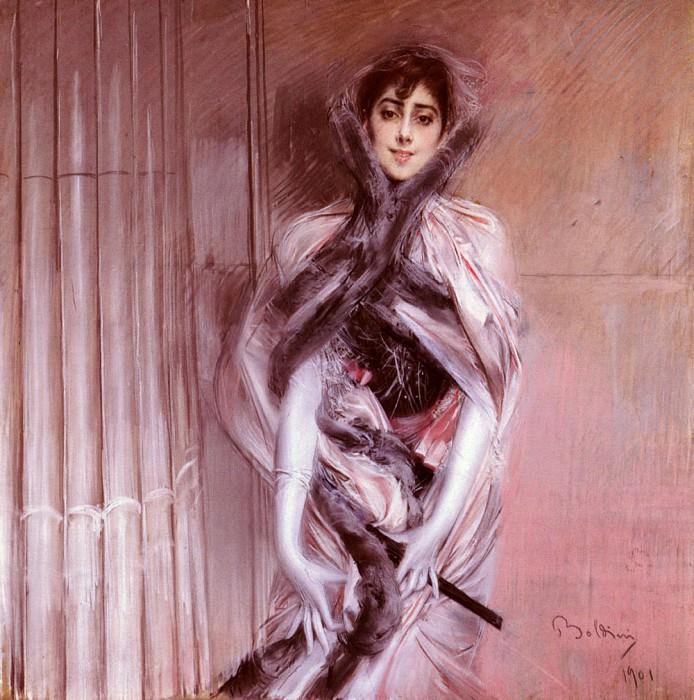 Portrait Of Emiliana Concha De Ossa. Giovanni Boldini