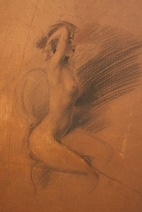 Nudino Scattante. Giovanni Boldini