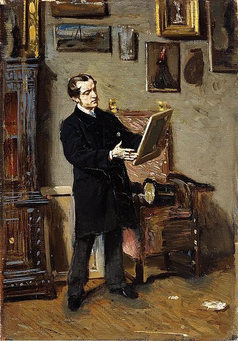 Autoritratto Mentre Osserva un Dipinto 1865. Giovanni Boldini