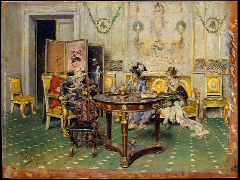 Gossip. Giovanni Boldini