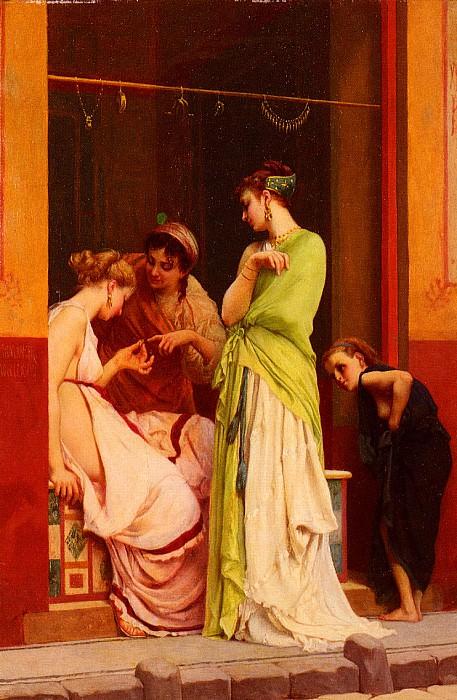 Une Marchande De Bijoux A Pompeii. Gustave Clarence Rodolphe Boulanger