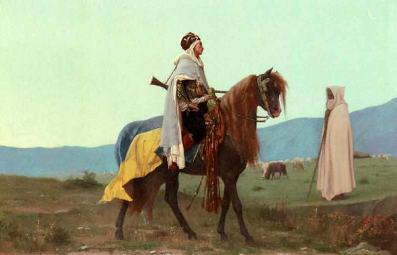 An Arab Horseman. Gustave Clarence Rodolphe Boulanger