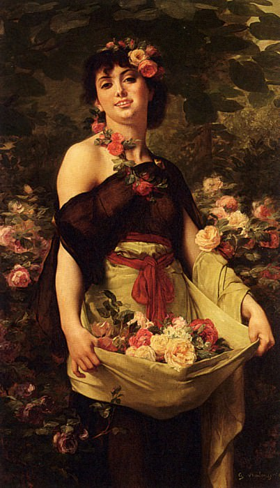 The Flower Girl. Gustave Clarence Rodolphe Boulanger