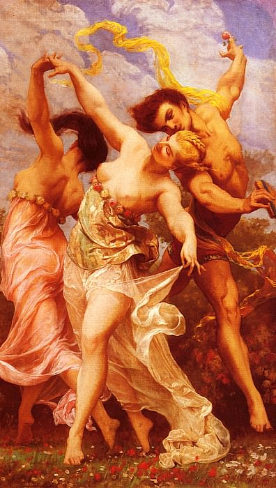 La Danse Amoureuse. Gustave Clarence Rodolphe Boulanger