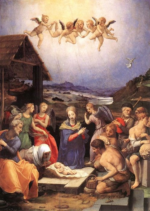 Adoration of shepherds. Agnolo Bronzino
