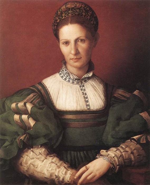 Portrait Of A Lady In Green. Agnolo Bronzino