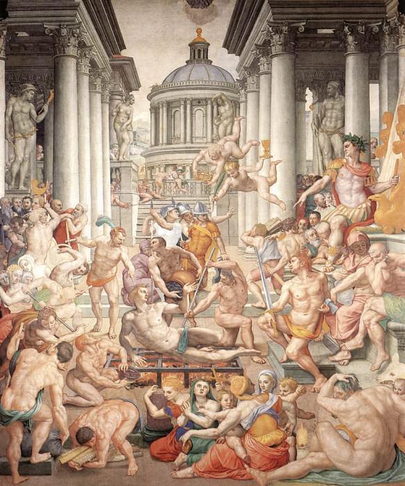 Martyrdom Of St Lawrence. Agnolo Bronzino