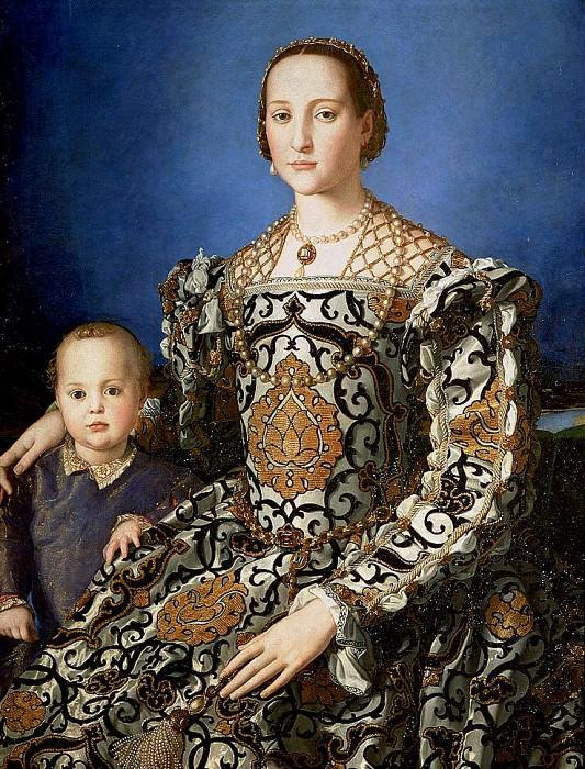 Элеонора Толедская с сыном. Аньоло Бронзино