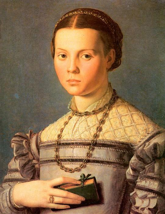 Портрет девушки с книгой. Аньоло Бронзино