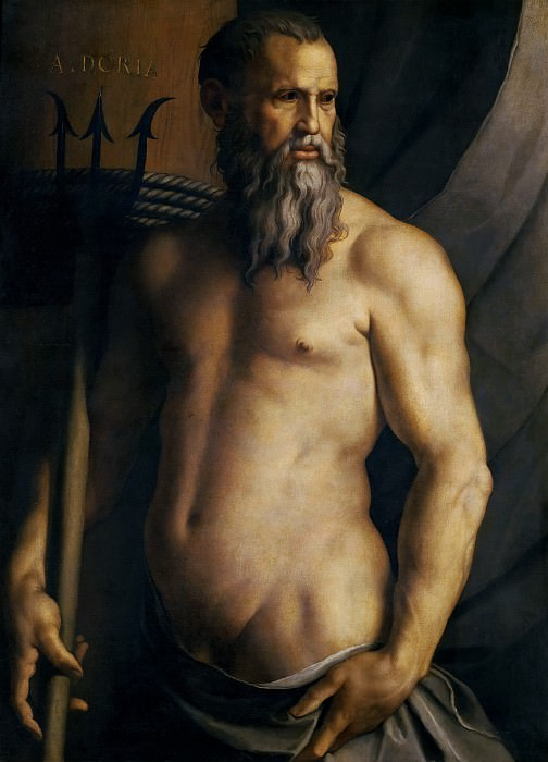 Portrait of Andrea Doria as Neptune. Agnolo Bronzino