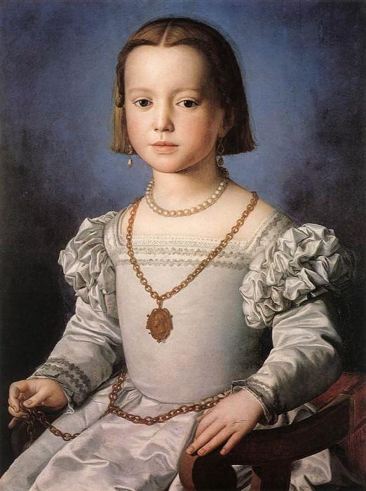 Бия, незаконная дочь Козимо I де Медичи. Аньоло Бронзино