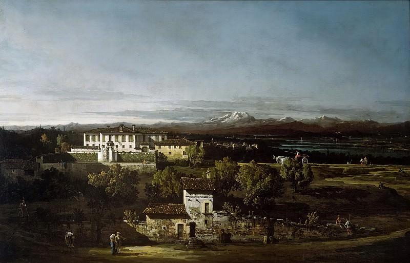 View of Villa Cagnola at Gazzada. Bernardo Bellotto