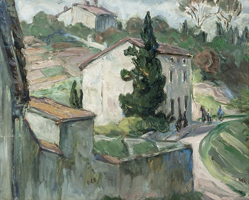 The Red Roofs. Study from the South of France. Anna Katarina Boberg