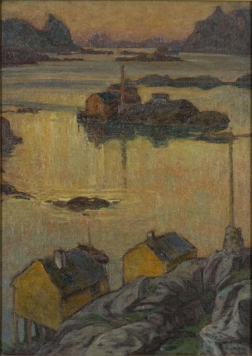An August Night. Study from North Norway. Anna Katarina Boberg